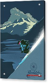 Acrylic Print featuring the painting Retro Revelstoke Ski Poster by Sassan Filsoof