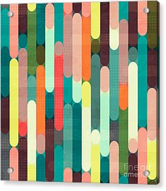 Retro Stripe Seamless Pattern With Acrylic Print