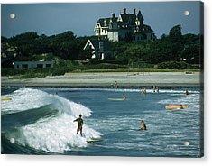 Rhode Island Surfers Acrylic Print