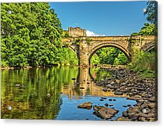 Richmond Castle And The River Swale Acrylic Print by David Ross