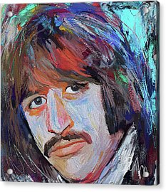 Ringo Star The Beatles Artistic Portrait Acrylic Print