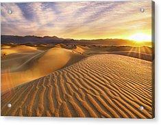 Rippled Sand Dunes At Sunrise Acrylic Print