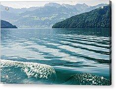 Ripples On Lake Lucerne Acrylic Print