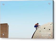Risky Man On The Edge Acrylic Print