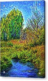 Acrylic Print featuring the digital art River Aura Melody by Joel Bruce Wallach