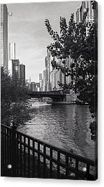 River Fence Acrylic Print