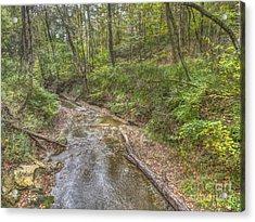 River Flowing Through Pine Quarry Park Acrylic Print