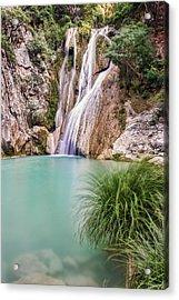 River Neda Waterfalls Acrylic Print
