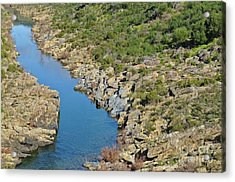 River On The Rocks. Color Version Acrylic Print
