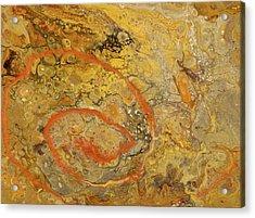 Riverbed Stone Acrylic Print