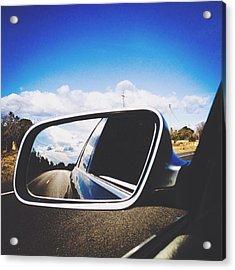 Road Reflecting On Side-view Mirror Acrylic Print by Jessica Gimenez / Eyeem
