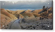 Acrylic Print featuring the painting Road To Emmaus by Peter Mathios