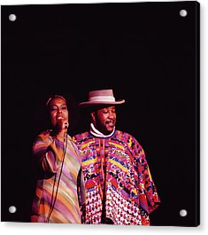 Roberta Flack And Les Mccann Perform At Acrylic Print by David Redfern