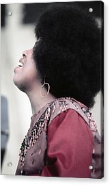 Roberta Flack At Newport Acrylic Print by Michael Ochs Archives