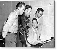 Rock And Roll Musicians Jerry Lee Acrylic Print by Michael Ochs Archives