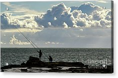 Acrylic Print featuring the photograph Rock Fishing by Pablo Avanzini
