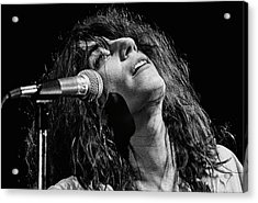 Rock Singer Patti Smith In Concert Acrylic Print by George Rose