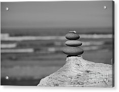 Acrylic Print featuring the photograph Rock Zen I by Jeni Gray