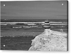 Acrylic Print featuring the photograph Rock Zen Four by Jeni Gray