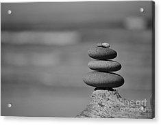 Acrylic Print featuring the photograph Rock Zen 6 by Jeni Gray