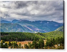 Acrylic Print featuring the photograph Rockies - Clouds by James L Bartlett