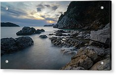Rocky Coast Near Dubrovnik Acrylic Print