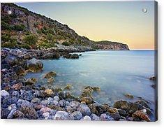 Rocky Coast Near Monemvasia Acrylic Print