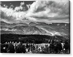 Acrylic Print featuring the photograph Rocky Foothills Bw by James L Bartlett