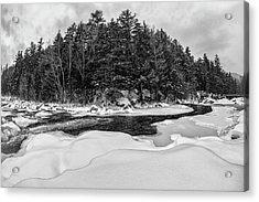 Rocky Gorge N H, River Bend 1 Acrylic Print