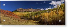 Acrylic Print featuring the photograph Rocky Mountain Autumn Panorama View by James BO Insogna