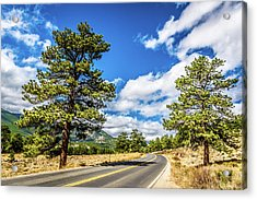 Acrylic Print featuring the photograph Rocky Mountain Highway by James L Bartlett