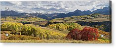 Acrylic Print featuring the photograph Rocky Mountain Valley Of Color Panoramic View by James BO Insogna