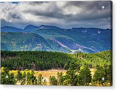 Acrylic Print featuring the photograph Rocky Mountains - Green by James L Bartlett