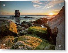Rocky Pismo Sunset Acrylic Print