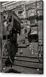 Acrylic Print featuring the photograph Roll The Film - Bw by Kristia Adams