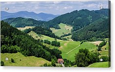 Rolling Hills Of The Black Forest Acrylic Print