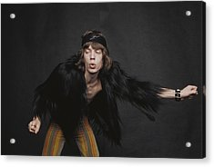 Rolling Stones Singer Acrylic Print by Michael Ochs Archives