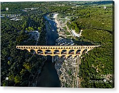 Roman Aqueduct, Pont Du Gard Acrylic Print