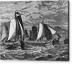Roman Fleet Acrylic Print by Hulton Archive