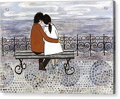 Romance On The Sea Side Acrylic Print by Georgiana Chitac