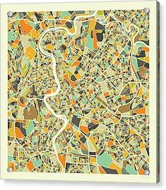 Rome Map 1 Acrylic Print