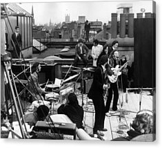 Rooftop Beatles Acrylic Print by Express