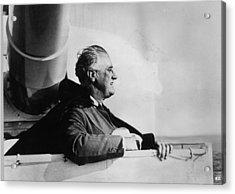 Roosevelt At Sea Acrylic Print by Keystone