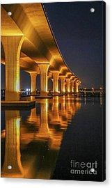 Acrylic Print featuring the photograph Roosevelt Bridge Portrait by Tom Claud