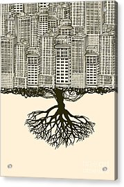 Root Of The Big City Acrylic Print