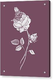 Rose Purple Flower Acrylic Print