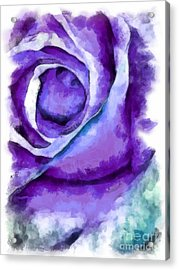 Rose Splash Acrylic Print