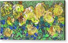 Roses 1001 Yellow Acrylic Print