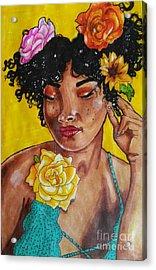 Rosie Acrylic Print by William Bryant