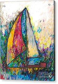Rough Sailing Acrylic Print